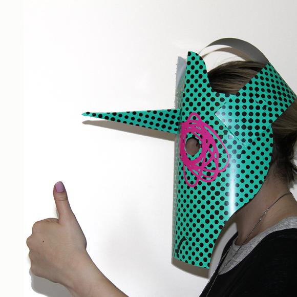 Unicorn mask tile