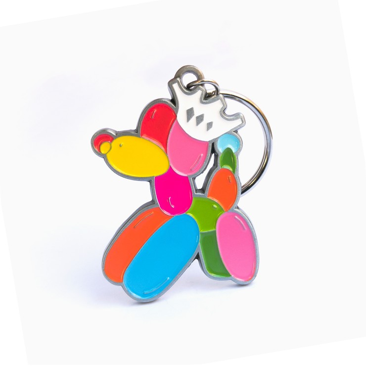 Rainbow Dog Key Ring