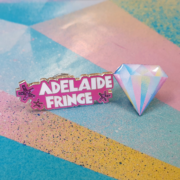 Set of Pins: Adelaide Fringe Pin and 60th Anniversary Diamond Pin
