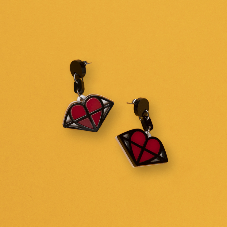 Earrings Caged Heart – Limited Edition
